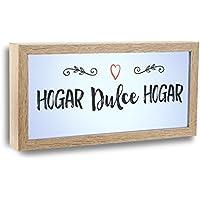 Versa 21430012 Cuadro Luz Hogar Dulce Hogar, 15x4x30cm, Madera