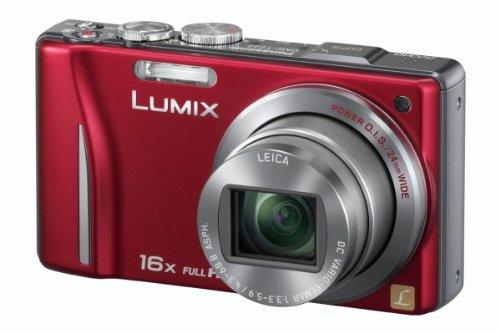 Panasonic Lumix DMC-TZ22EG-R Digitalkamera (14 Megapixel, 16-fach opt. Zoom, 7,5 cm (3 Zoll) Touch LC-Display, GPS, Full HD, 3D, bildstabilisiert) rot
