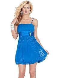 Ärmellose Spaghetti Streifen Durchsichtig Bubble Rock Brautkleid Party Mini Kleid