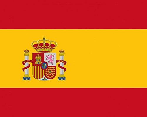 1art1 49837 Spanien - Flaggen Der Welt Poster Kunstdruck 50 x 40 cm -