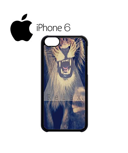 Relax Triangle Lion Leopard Tiger Swag Mobile Phone Case Back Cover Hülle Weiß Schwarz for iPhone 6 White Schwarz