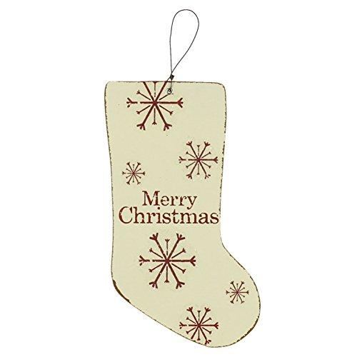 Merry bright & mdf-calza di natale con scritta