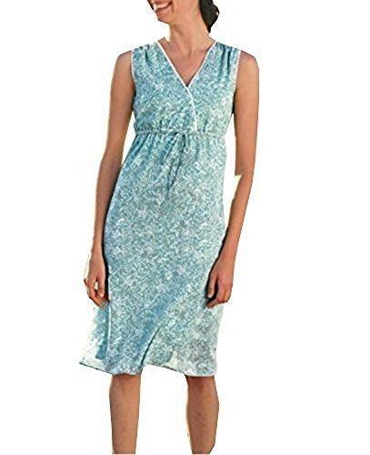 Kleid Crinklekleid von Eddie Bauer - Aqua Gr. 8 (38)