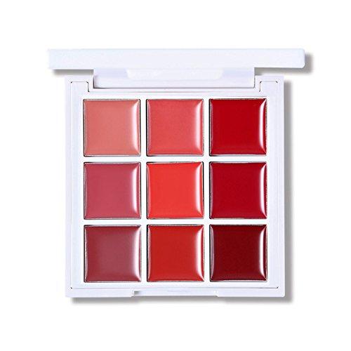 Futaba 9 Color Lip Gloss Cream Palette - Coral
