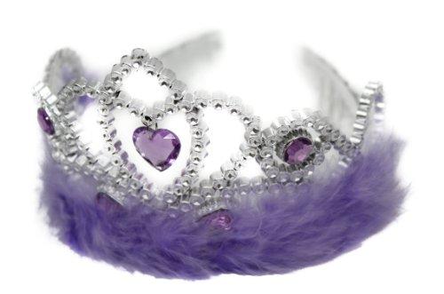 Plástico de suite lazo negro bola Tiara plumas lila y morado