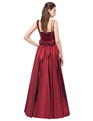 Dresstells Robe de cérémonie Robe de soirée en taffetas emperlée épaule asymétrique longueur ras du sol Vert
