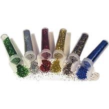 Assorted Glitter Shaker Tubes - 6pk