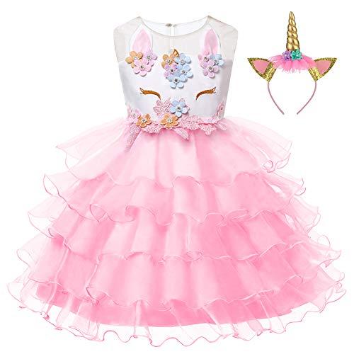 LZH Beb/é Vestido Las Ni/ñas Flor Bowknot Princesa Cumplea/ños Fiesta Deshierbe