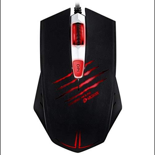 WAVENI Mouse da Gioco 3500 DPI, Mouse Mouse Ottico con Cavo USB ergonomico con retroilluminazione a LED a 3 Colori