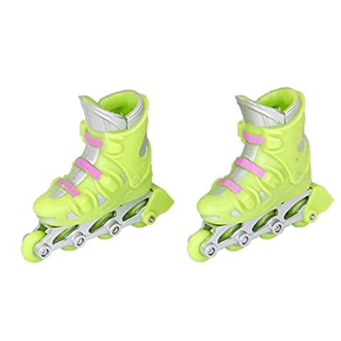 MagiDeal 1Pair of Finger Roller Skates Games Kids Gift Green