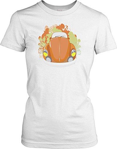 VW-Beetle-Orange-Pop-Art-Ladies-T-Shirt