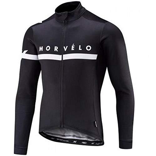 Maglia da ciclismo a maniche lunghe da uomo giacca termica anti sudore in pile termica per abbigliamento da ciclismo Giacca da moto traspirante Quick Dry 6XL