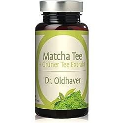 Dr. Oldhaver Matcha Tee + Grüntee Extrakt Kapseln | Hochwertige Grüner Tee Kapseln mit Vitamin B2 (Riboflavin) | Made in Germany | 120 Kapseln
