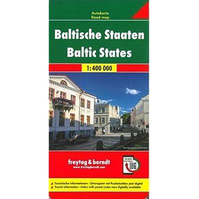 Paesi Baltici 1:400.000: Wegenkaart 1:400 000
