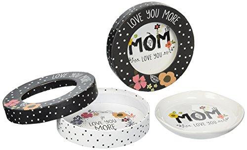 Love You More von Amylee Wochen Love You Mom Schmuck Gericht mit Geschenkverpackung, weiß (Tray Cracker)