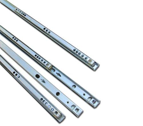 5 Schublade Kugellager (Schubladenschienen, Metall, Kugellager, 310mm, für 17mm tiefe Schubladen, 5 Paar)