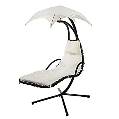 Life Carver Swing Hammock Garden Dream Chair Garden Furniture Sun Seat Bed Hanging Sun Loungers with Canopy/Parasol