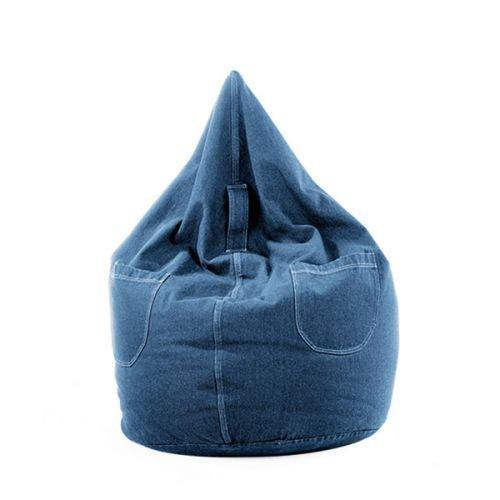 Sitzsack Jeans Farbe Blue Jeans, Größe 300 Liter 63 x 116 cm