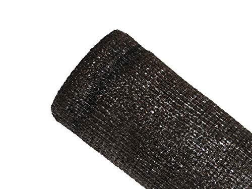 MAILLESTORE Brise-Vue 80% Marron/Noir - 95gr/m² - sans boutonnières Marron/Noir 2m x 5m