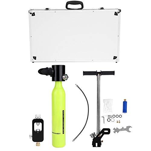 Focket Tragbare Tauchausrüstung,Luftfahrt-Aluminium-Respirator-Sauerstoffflaschen und Aluminium Hochdruckluftpumpe Tauchflaschen Nachfülladapter Set