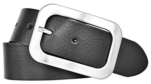 Vanzetti Damen Leder Gürtel Vollrindleder Damengürtel schwarz 40mm (80 cm)