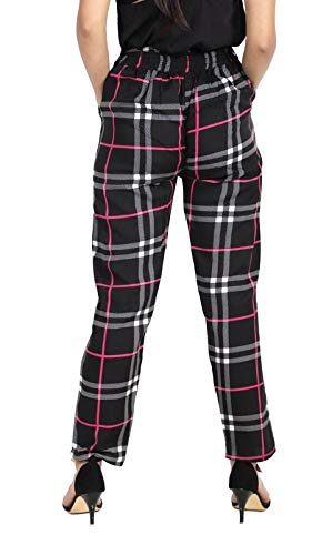 7b9f6b7ccc66f Khhalisi Black Burberry Checkered Comfort fit Pants