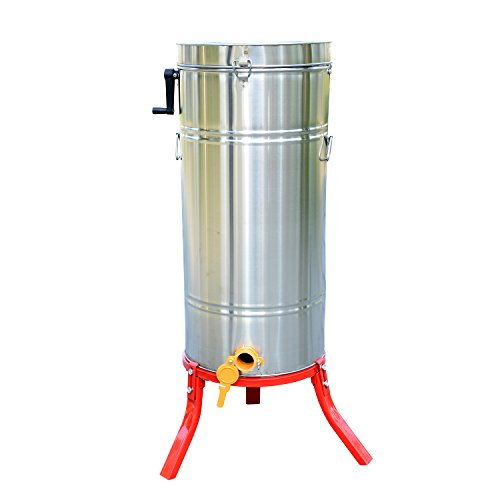 HOMCOM Honey Extractor 4 frame Stainless Steel Manual for Beekeeping Bee Keeping With Cover New Test