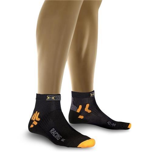 X-Socks Herren Socken BIKING RACING, Black, 45/47, X020002