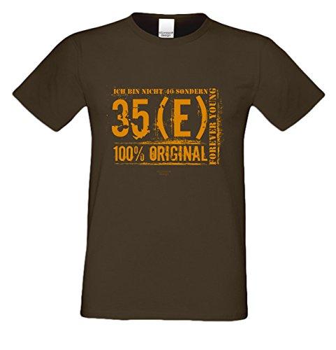 Herren-Geburtstags-Fun-T-Shirt Original seit 40 Jahren Geschenk zum 40. Geburtstag oder Weihnachts-Geschenk auch Übergrößen 3XL 4XL 5XL in vielen Farben braun-11