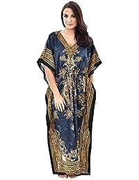 "Royal Kurta Women Dashiki Kaftans Light Viscose Kimono Kaftan Lounger Dress 56"""
