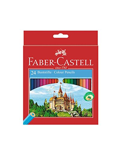 Faber-Castell 111224 laápiz de color 24 pc(s) Multi – Lápiz de color (24 pc(s), Multi, Wood, Multicolor, Hexagonal, Cardboard box)