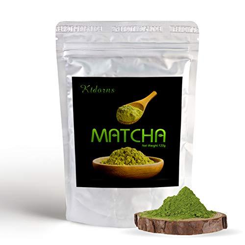 Bio Matcha-Tee Pulver 120g - Echter Bio-Matcha - Ohne Zusätze, rein natürlich, 100% Bio & im wiederverschließbaren Beutel - Perfekt für Tee, Matcha-Latte, Matcha-Smoothies und mehr