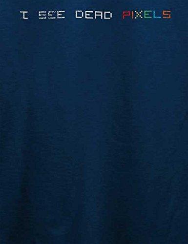 I See Dead Pixels Vintage T-Shirt Navy Blau