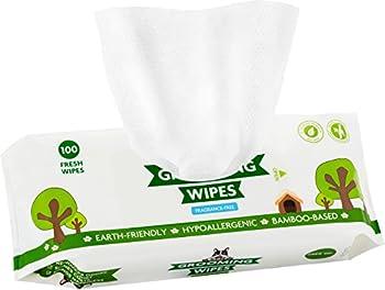 Lingettes Nettoyantes Pogi's - 100 Chiffons Désodorisant pour Chiens ? Extra Larges, Biodégradables, Non Parfumées, Naturelles