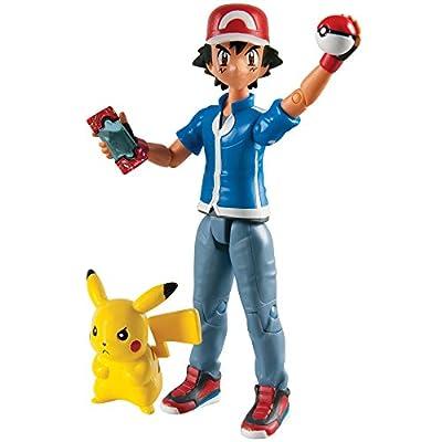 TOMY Ash & Pikachu - Figuras de Juguete para niños (Multi, De plástico, Niño/niña, Acción / Aventura, Pokemon) por Tomy