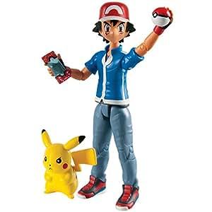 Tomy Pokémon - T18516 - Pack Figurine d'Action - Sacha & Pikachu
