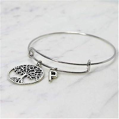 Bracelet ARBRE DE VIE personnalisé | Bracelet FAMILLE | Bijou à initiale | Bijou personnalisé | Bijou pierre de naissance | Cadeau femme personnalisé
