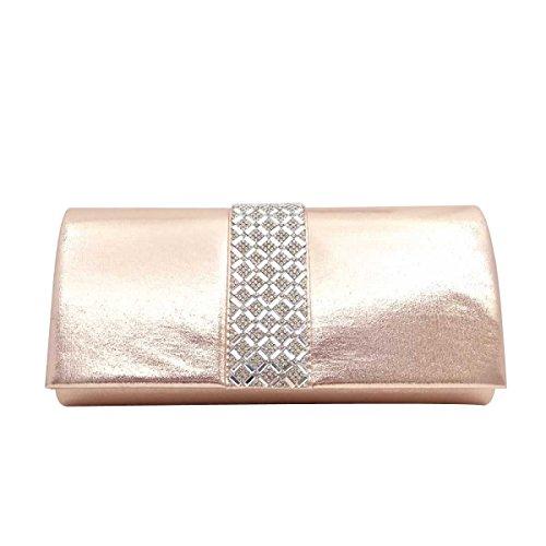 Borsa Diamante Evening Bag Diamante Bridal Delle Donne A