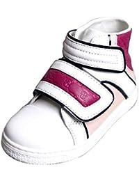 Gucci Los niños de Cuero Zapatillas Pop Hightop Coda 301353 301354 (12, Blanco/