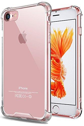 iPhone 6S Plus Fall, iPhone 6Plus Schutzhülle Slim Transparent Hard kratzfestem PC Flexible TPU Rutschfeste Full Body stoßfest Schutzhülle für iPhone 6Plus/6S Plus-Crystal