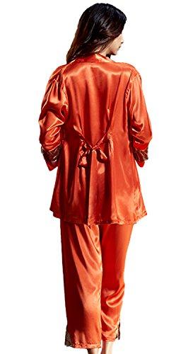 DQQ Damen Nachthemd Orange - Orange