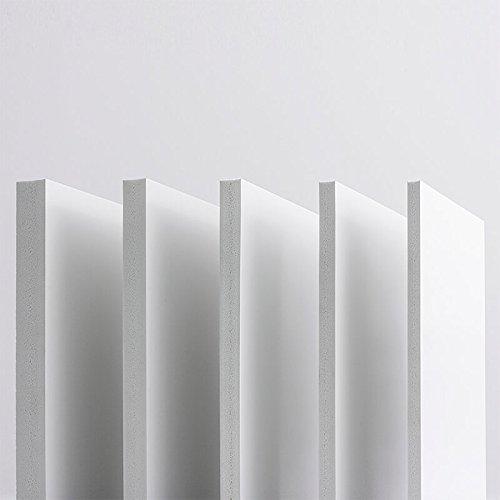 10mm Hartschaumplatten PVC Platte 100x70 cm Integralschaum weiß