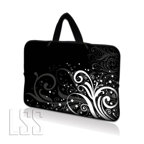 LSS Neoprene Laptop Tablet Sleeve W. Hidden Handle Case Adatta per Apple Ipad 1 Ipad 2 Ipad 3/Kindle Fire / Samsung Galaxy Tablet / Asus Eee Pad / Acer Iconia Tab /Acer Aspire one/Dell inspiron mini/Samsung N145/Toshiba/Kindle DX/Lenovo S205/HP Touchpad Mini 210 8
