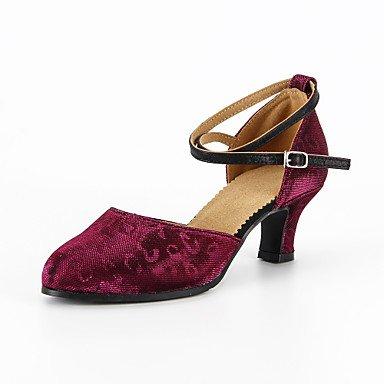 Silence @ Chaussures de danse pour femme moderne Paillettes scintillantes Talon Violet/argent Silver