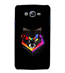 printtech Wolf Vector Pattern Back Case Cover for Samsung Galaxy J7 (2016 EDITION)