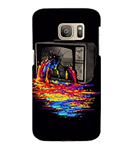 PrintVisa Color TV Fantasy Design 3D Hard Polycarbonate Designer Back Case Cover for Samsung Galaxy S7