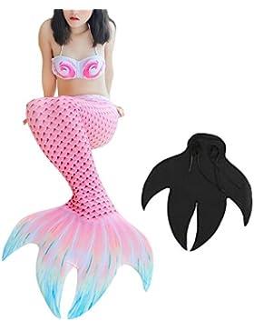 Chicas Cola de Sirena para Nadar Mujer Niñas Sirena Concha Cosplay Traje Conjunto