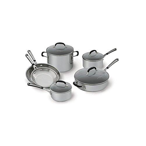 Simply Calphalon Stainless Steel 10 piece Cookware Set