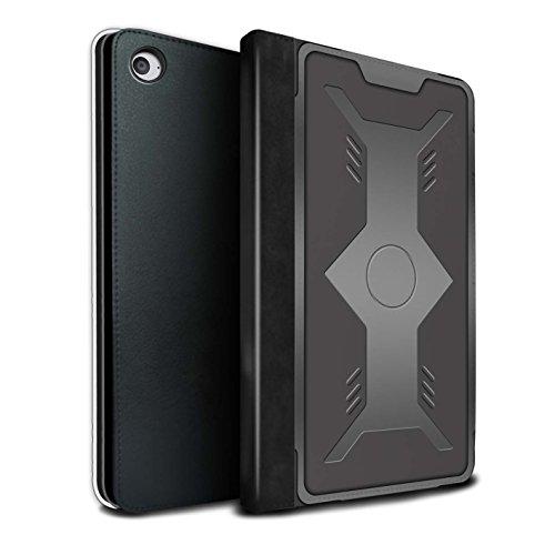 Stuff4® PU-Leder Hülle/Case/Brieftasche für Apple iPad Mini 4 Tablet/Schild Muster/Rüstung Kollektion
