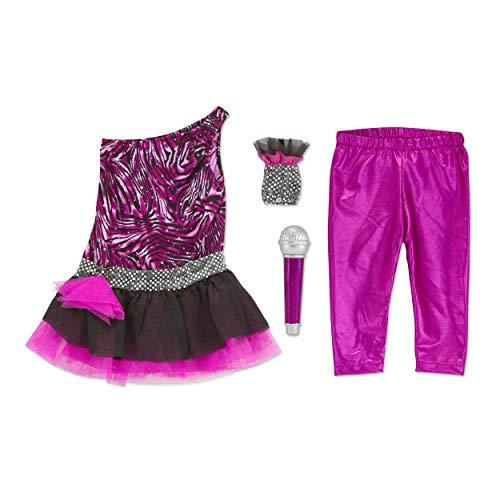 Rock Mädchen Glam Kostüm - Preis am Stiel Kinderkostüm Sänger ''Rock Star'' | Karneval | Verkleidung | Fasching | Kostüm | Gruppenkostüm | Mädchen | Mottoparty | Kinderparty | Kindergeburtstag | Singen